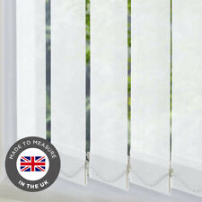 Vertical Blinds Made To Measure 89mm Louvres Slats Complete Blind - Large Sizes