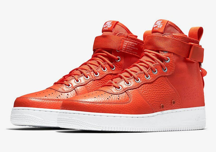 The most popular shoes for men and women nike SF AF1 Air Force 1 Mid '07 TEAM ORANGE US MENS SHOE SIZES 917753-800