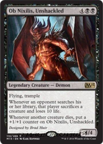OB NIXILIS, UNSHACKLED M15 Magic 2015 MTG Black Creature — Demon RARE