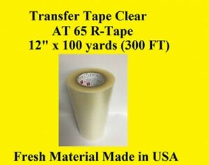 "Transfer Tape Clear 12/"" x 300 ft Application Vinyl Signs R TAPE 1 Roll"