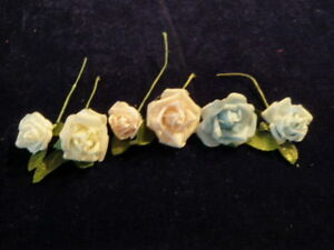 Vtg-Millinery-Flower-Collection-1-1-2-2-034-Blue-White-Pink-Rosebud-Doll-Size-H2159
