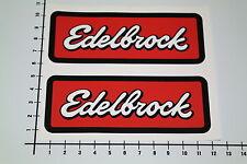 Edelbrock 2 pezzi adesivi sticker JDM Old School v8 tuning AUTO decal nos-0039