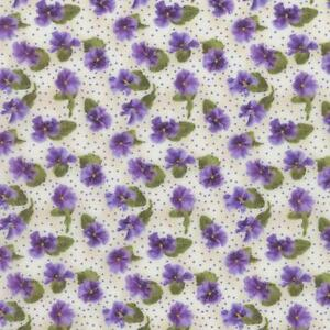 Debbie-Beaves-Lovely-Purple-Cream-Calico-Pansy-Floral-Quilt-Fabric-1447-002-3C