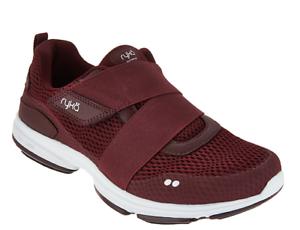 Ryka Mesh Slip-On Sneakers with Strap Detail - Devotion Cinch Wine Women's 5
