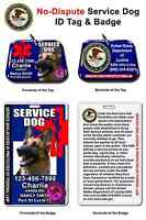Service Dog Id Tag And Badge Combo Custom Photo Id For Pet Blue
