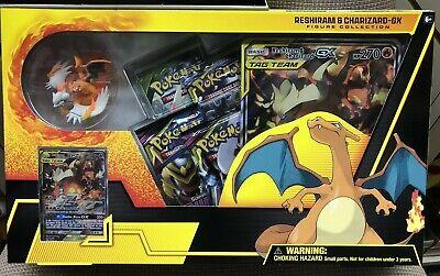 Pokemon TCG Reshiram /& Charizard GX Figure Collection Box New//Sealed