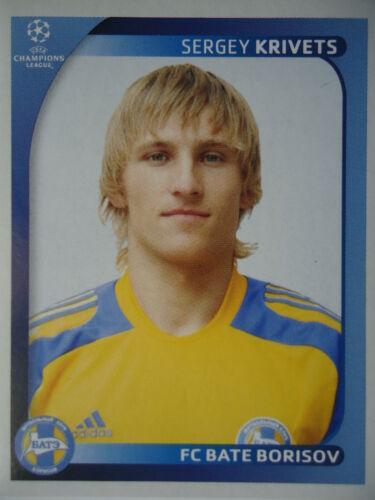 Panini 138 Sergey Krivets FC Bate Borisov UEFA CL 2008//09