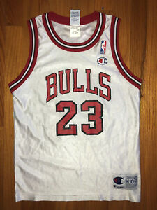 54aa80a9c1143 Details about MICHAEL JORDAN Vtg 90s Champion Jersey CHICAGO BULLS Youth  Med may Fit Lady size