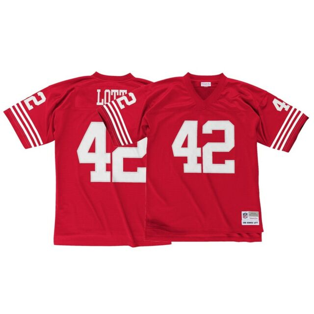 44701aabea2 San Francisco 49ers Ronnie Lott Sz XL Mitchell & Ness Throwback ...
