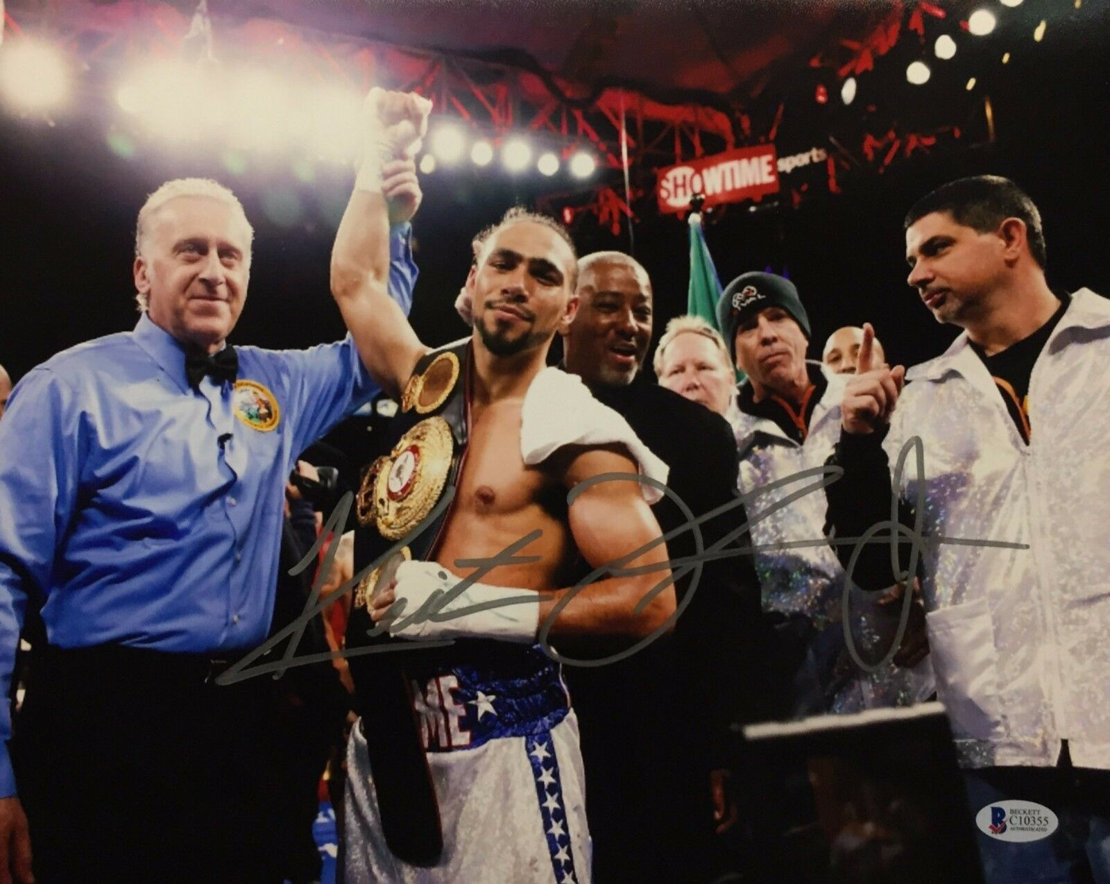 Keith Thurman Signed 11x14 Boxing Photo BAS Beckett C10355