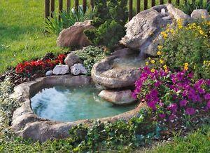 Cascata marmore bacino laghetto da giardino fontana for Fontana per laghetto