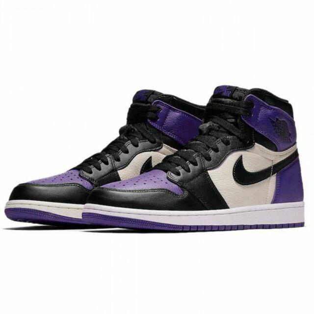 reputable site e52a3 dd6e8 Mens Air Jordan 1 Retro High OG Court Purple Sail Black 555088-501