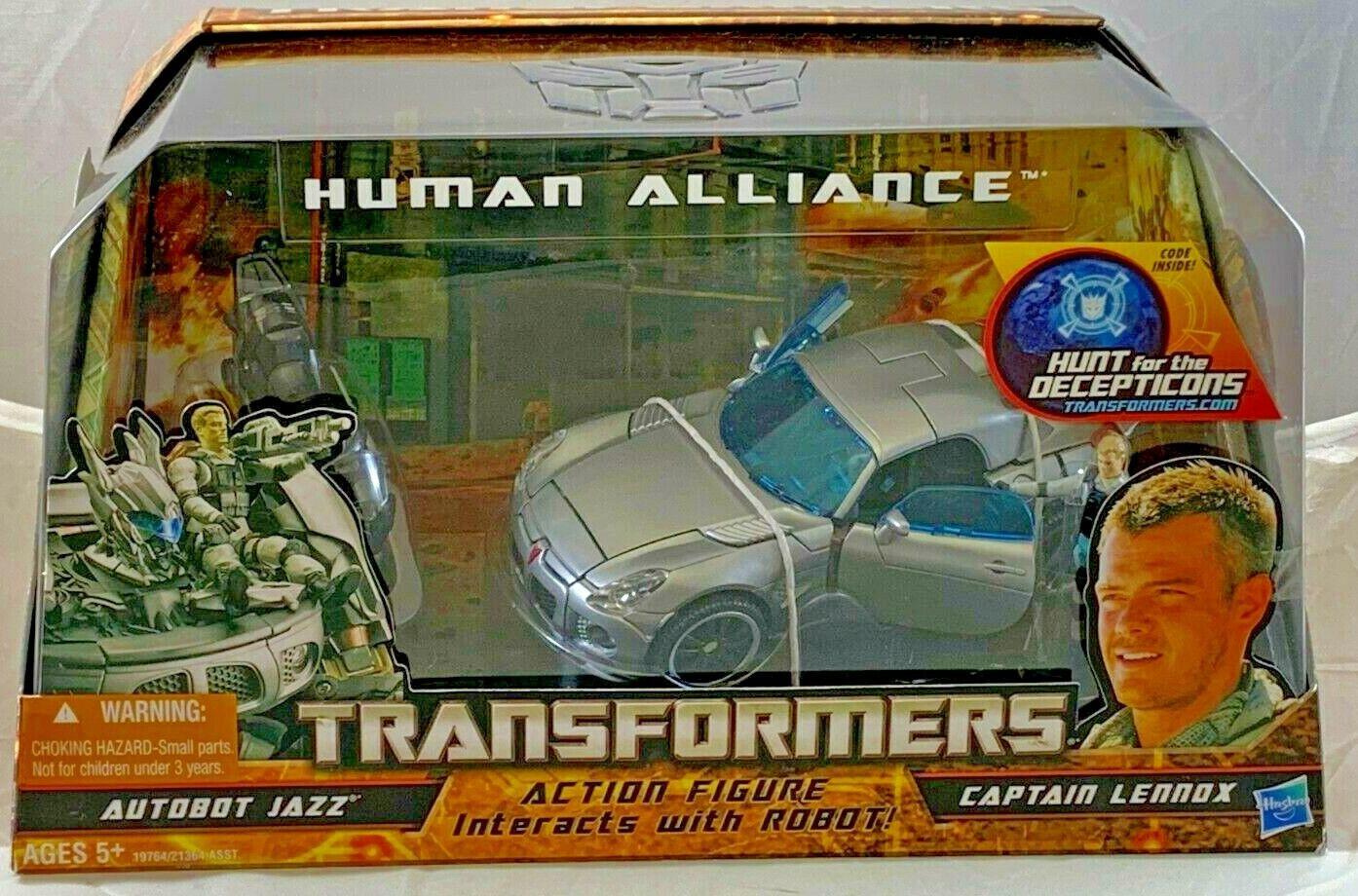 Menta en paquete HASBRO Transformers Autobot Jazz capitán Lennox Human Alliance Figura de acción