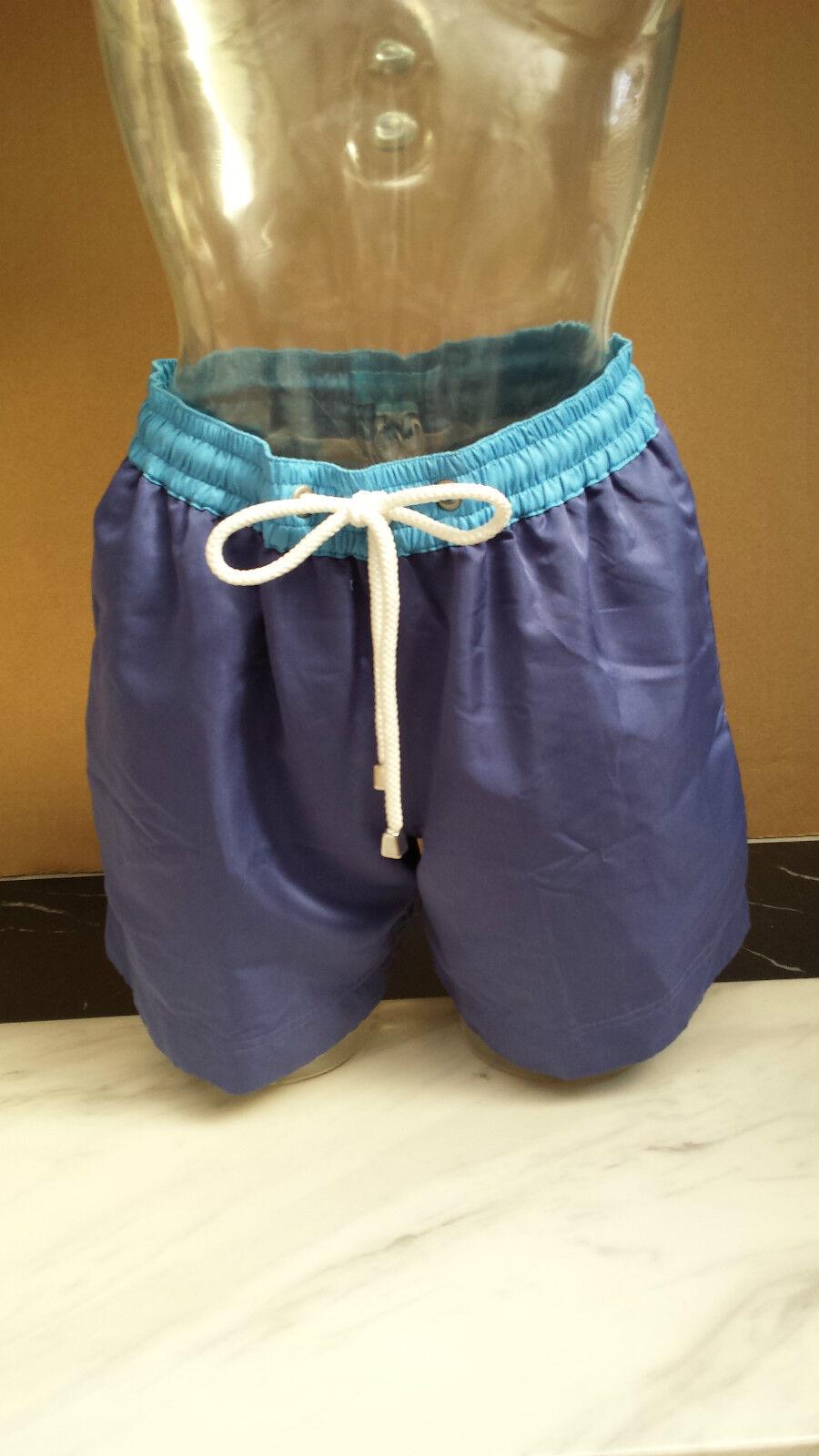 Thomas Royall Men's Designer Navy 'Leo' Swimming Shorts - Small RRP .00