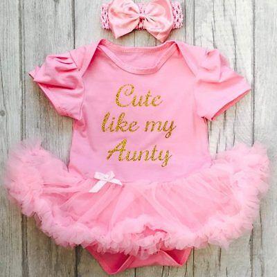 HELLO WORLD BABY GIRL PINK tutu romper Dress Princess gift NEWBORN Love Present