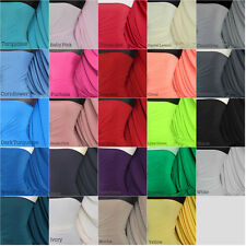 Soft touch 4 way stretch jersey lycra fabric by the meter craft Q36