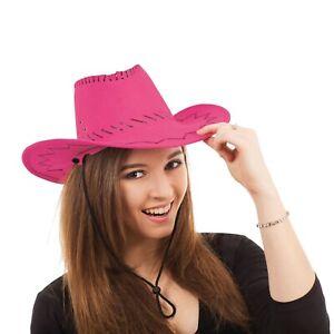 Infatigable Adultes Femmes Rose Couture Chapeau De Cow-boy Avec Paillettes Robe Fantaisie Set Accessoire-afficher Le Titre D'origine