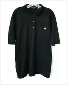Augusta-National-Masters-mens-polo-golf-shirt-XL-black-anded-sleeve-pima-cotton