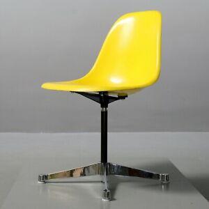 1 Da 3 Eames Vetroresina Side Chair Giallo Herman Miller Vitra Sedia Contract Ebay