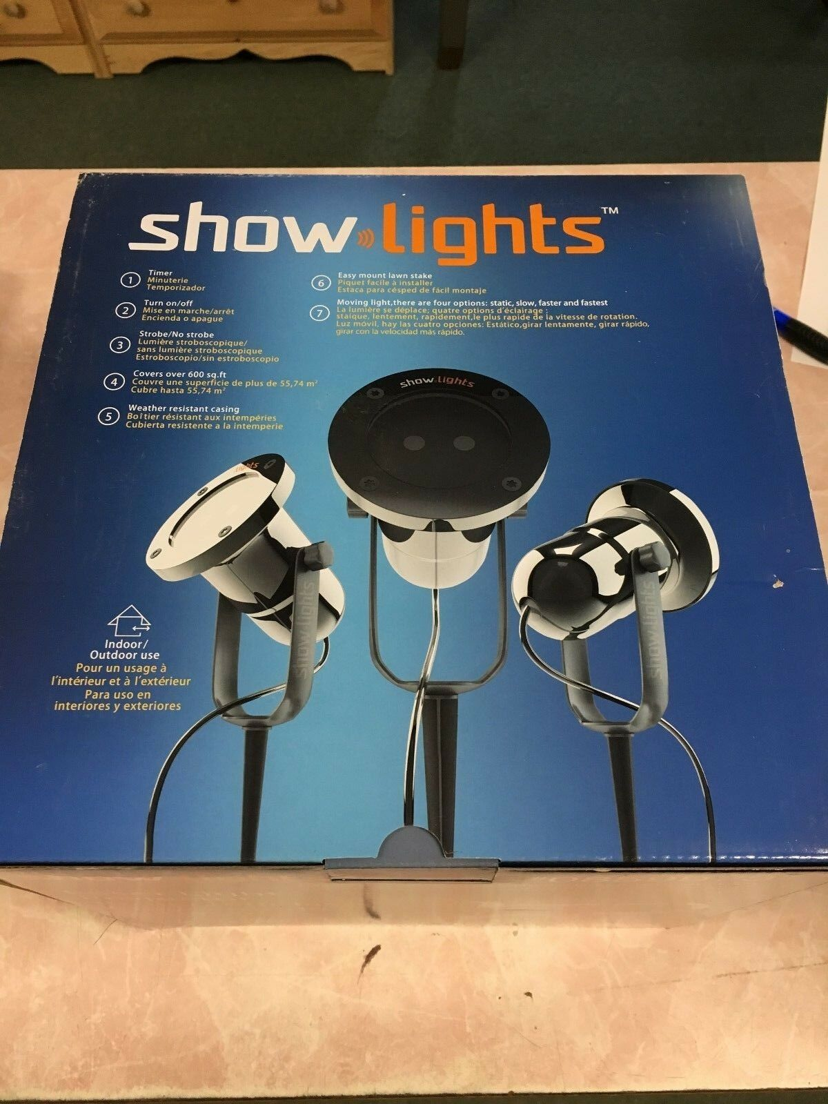 Show Lights Laser Projector rot Grün Moving Christmas Projector