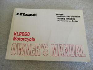 Kawasaki-KLR650-KL650-A15-Motorcycle-Owner-039-s-Manual-P-N-99987-1011-01