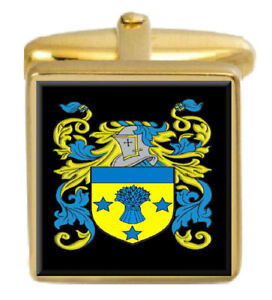 Uwins England Familie Wappen Heraldik Manschettenknöpfe Schachtel Set Graviert