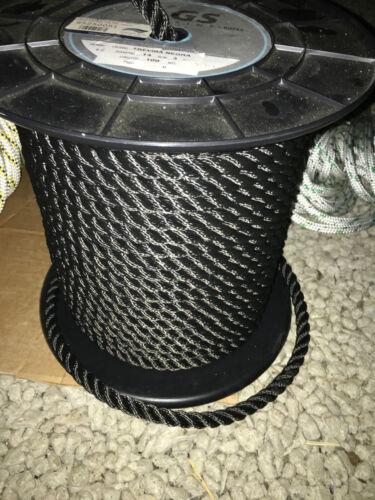 Cordage Noir pour amarre haute ténacité 10m Ø 16 mm 4156 kg