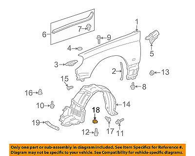 TOYOTA OEM-Fender Liner Splash Shield Push Clip Retainer Blind Rivet 9046707214