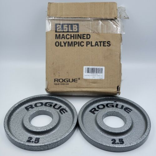 A 2 total 1 pair Rogue Machined Olympic weight set 2.5 LB