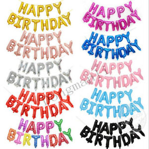 Image Is Loading 17 Inch 034 HAPPY BIRTHDAY Letters 13