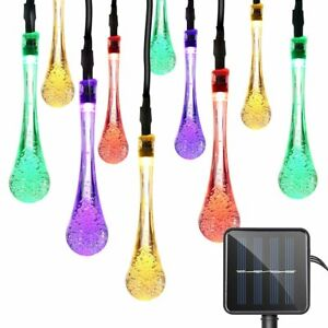 30-LED-Water-Drop-Solar-Party-Fairy-Outdoor-String-Lights-for-Patio-amp-Garden
