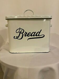 Splatter-Ware-NEW-EnamelWare-White-Bread-Box-kitchen-12-inches-x-9-inches-x-9