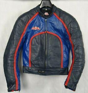 Men-039-s-Austrian-AMZ-1970-039-s-Cafe-Racer-Leather-Motorcycle-Biker-Jacket-S-40R