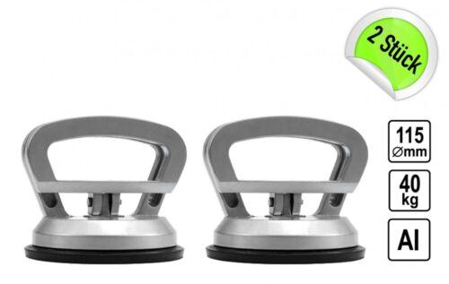 2 x Gummisauger Saugheber Einhand Griff Aluminium Sauger