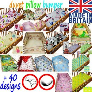 Image Is Loading Baby Cot Bedding Set Per Duvet Cover Pillow