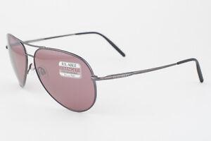 083d865039989 Image is loading Serengeti-Medium-Aviator-Shiny-Gunmetal-Polarized-Sedona- Sunglasses-