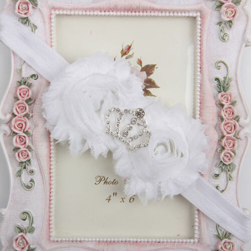 Cute Newborn Baby Girls Infant Toddler Crown Flower Headband Hair Band Headwear