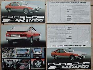 Porsche-924-Turbo-2-L-catalogue-depliant-publicite-de-concession-Porsche-Rare
