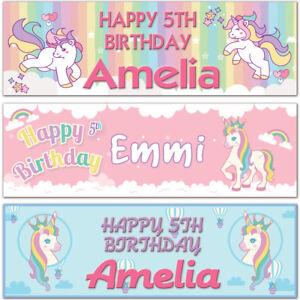 2-personalised-birthday-banner-unicorns-star-rainbow-children-kid-party-poster