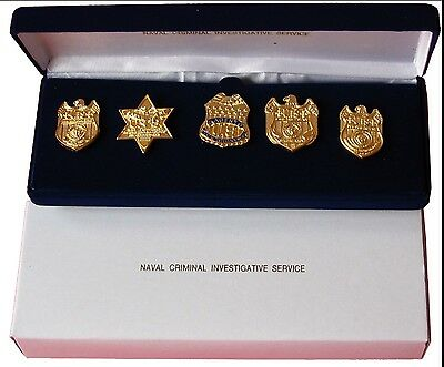 Rare commemorative NCIS mini BADGE pin set Naval Criminal Investigative Service