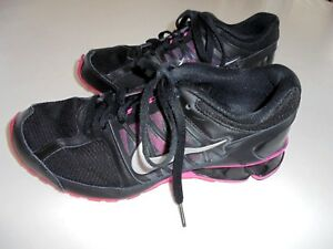 63126f2d2c5d NIKE REAX RUN 6 Black Fabric Synthetic Leather Running Shoes Sz 8.5 ...