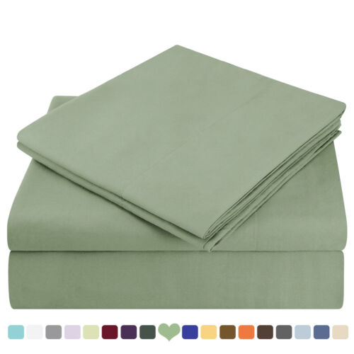 Comfort 4 Piece Bed Sheet Set Deep Pocket 1800 Count Bed Sheets Set Queen Size
