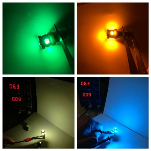 (25) PINBALL MACHINE LED-BULBS/ #44, #47, #455 LAMPS- COLOR CHOICE !! BA9S