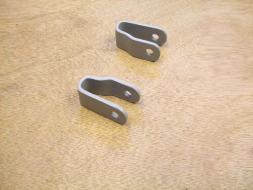 WELD ON LAMBRETTA  FORK DAMPER BRACKETS PAIR BRAND NEW