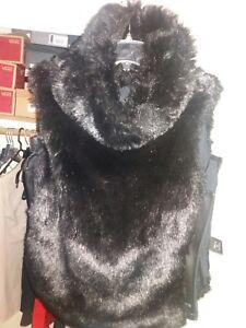 Faux Throw Fur Vest Back L Fubu FEYqdwfw