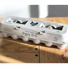 25 Egg Cartons Adorable Printed Vintage Design For Farm Fresh Eggs Recycled Pa