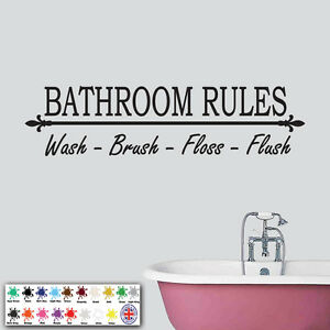 Superb Image Is Loading Bathroom Rules Wall Sticker Wall Art Decal Vinyl