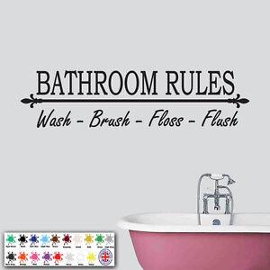 Bathroom Rules Wall Decal Wall Vinyl