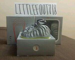 816d7e255fe Nike Lil  Posite Pro VOLT Baby Foamposite One BB Infants CRIB sz 1C ...