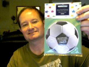 8-Football-Fete-Invitations-Parfait-pour-fete-d-039-anniversaire-GRATUIT-UK-POSTE
